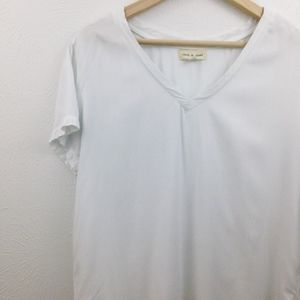 Anthropologie Tops - Anthro | Cloth & Stone Hi-Low, White V-Neck